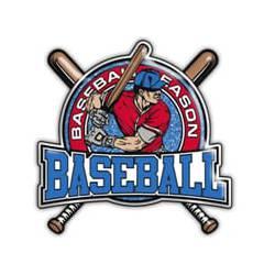 Stock Red/Blue Baseball Trading Pin